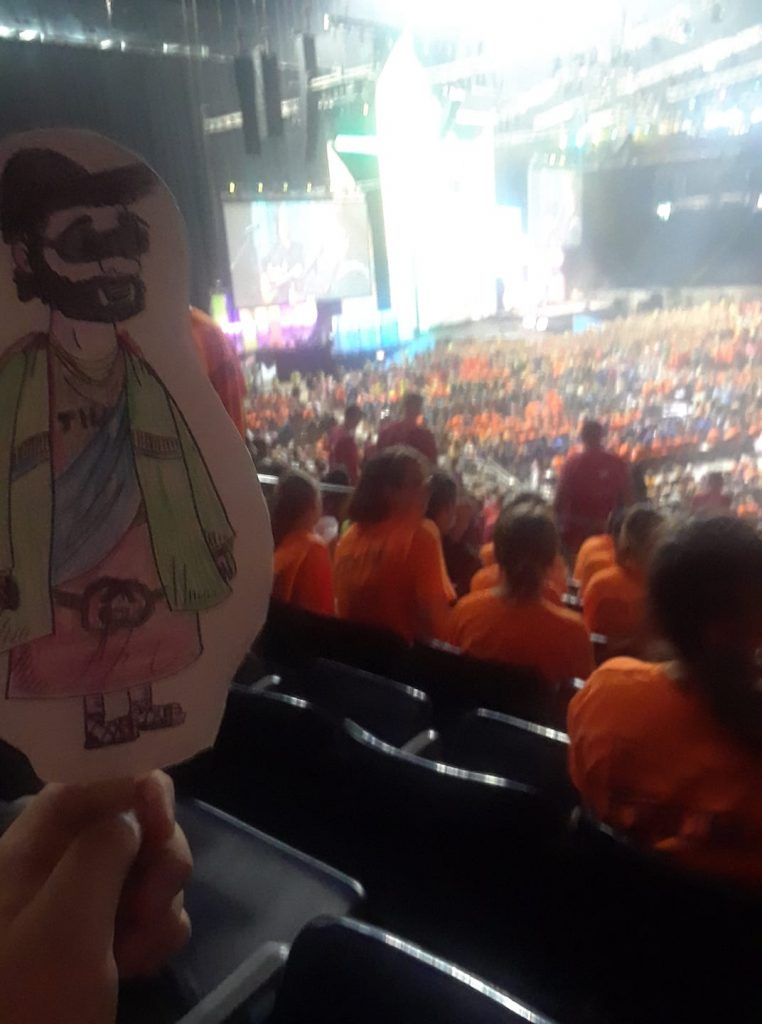 Gangster Flat Jesus is loving Houston elcayg2018 — at NRG Stadium.