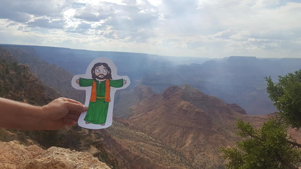 Flat Jesus visits the Grand Canyon. #SJLCFlatJesus2018