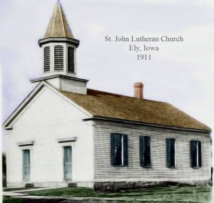 picture of an old white church
