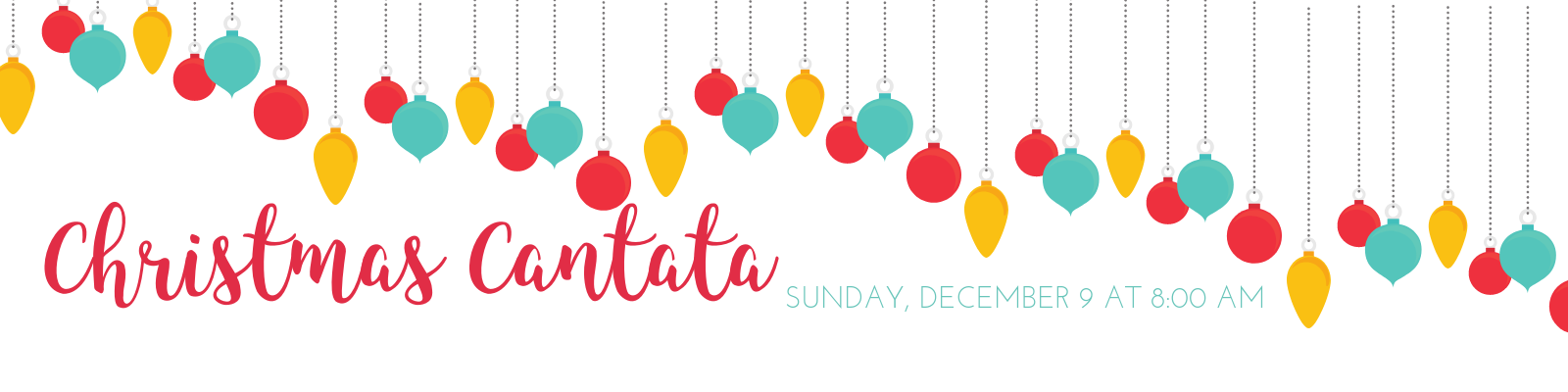 Come listen to the ecumenical choir cantata perform at 9 am on December 9th!