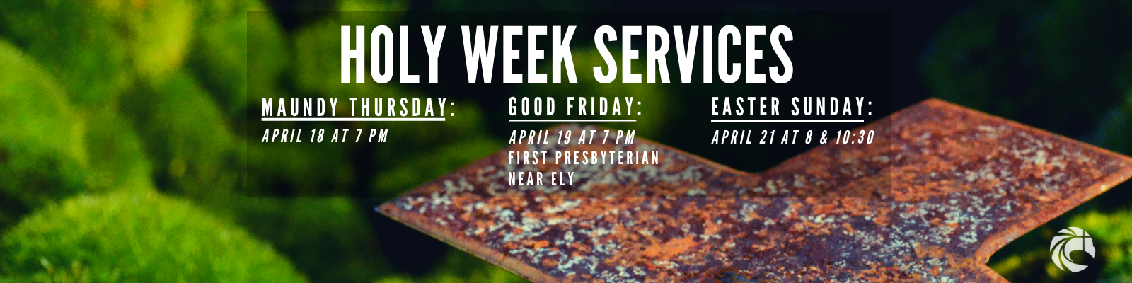 Join us this Holy Week as we journey through the last days of Lent leading up to Easter!