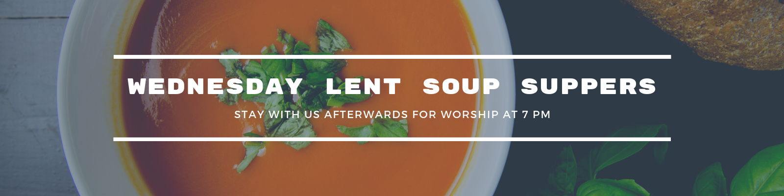 Join us for Wednesday Lent Soup Suppers at St John Lutheran Church in Ely, Iowa