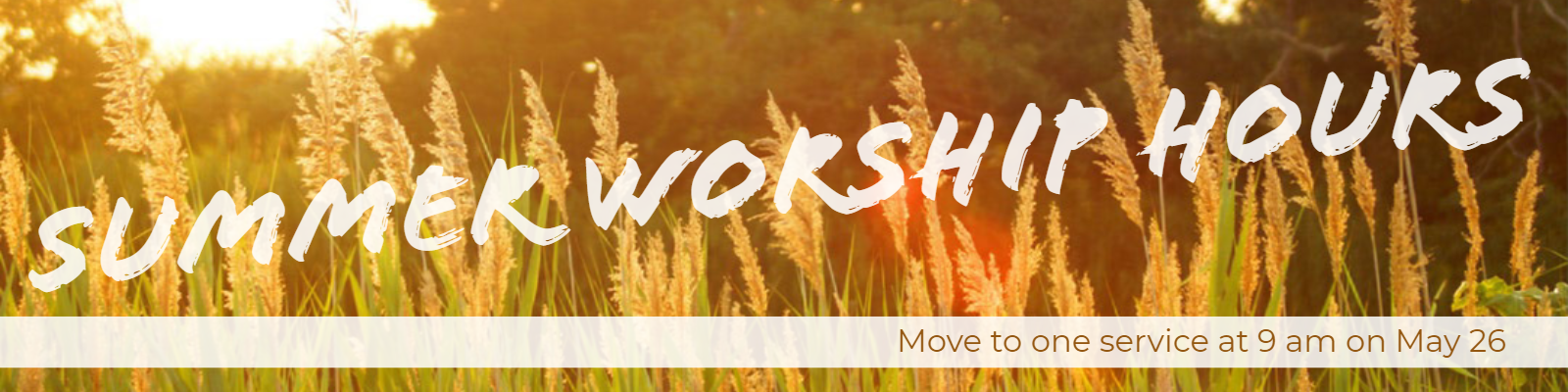 Join us as we move to one service once again this summer at St. John Ely at 9 am on Sundays