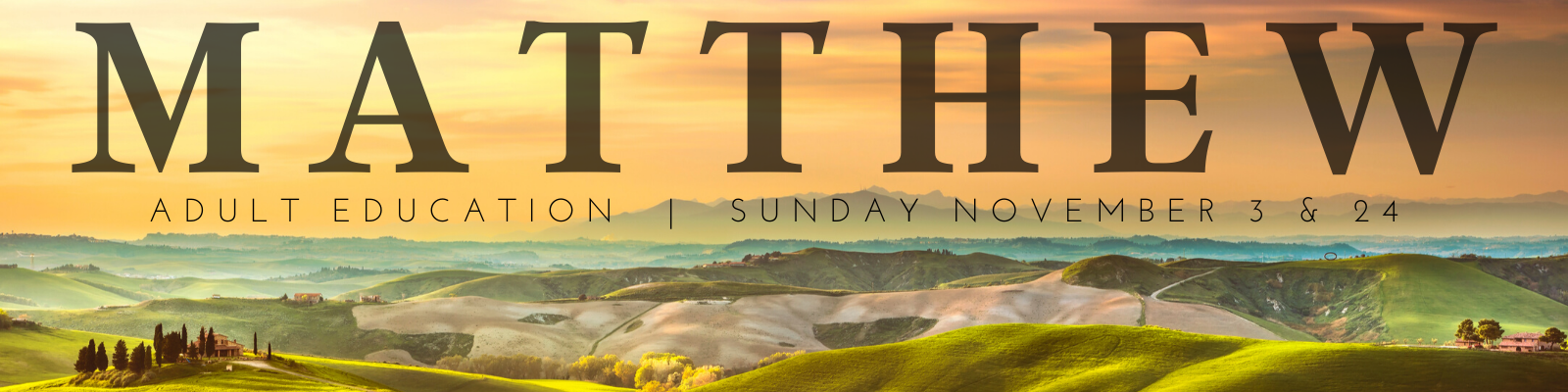Join us as we learn a bit more about the Gospel of Matthew